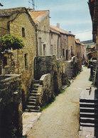 12 La Couvertoirade Ancienne Commanderie Des Templiers La Rue Droite (2 Scans) - Andere Gemeenten