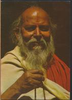 °°° 13066 - INDIA - BOMBAY - MEDITATING SADHU - 1983 With Stamps °°° - India