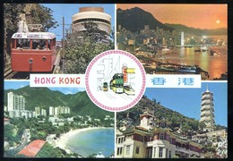 CINA - CHINE - HONG KONG - 1979 - 4 VIEWS - TRAMWAY - Cina (Hong Kong)