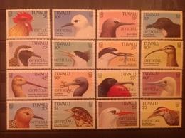 Tuvalu 1988 Bird Definitives Officials MNH SG O35-50 - Tuvalu