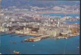 °°° 13067 - HONG KONG - PANORAMIC VIEW OF KOWLOON PENINSULA - 1978 With Stamps °°° - Cina (Hong Kong)