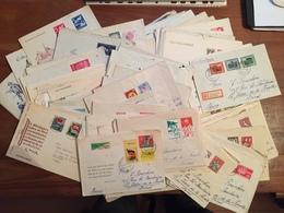 DDR - Lot De + De 120 Lettres (7 Scans) Annees 1950 : Ersttagsbrief, Einschreiben Etc... Depart 10 Cts La Lettre - [6] République Démocratique
