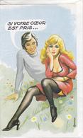 CPA 18 X 10,5 Cm Illustrateur Louis CARRIERE - Femme Blonde PIN'UP Séducteur, Si Votre Coeur Est Pris ... - Carrière, Louis