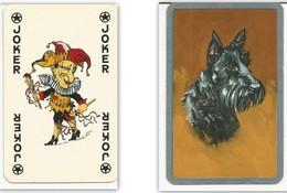 Carte à Jouer : JOKER D'un Côté Et Un Chien De L'autrevoiture Ancienne De L'autre - Cartes à Jouer Classiques