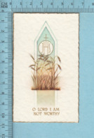 NB 5077 - Gold Print, O Lord I Am Not Worthy -  Image Pieuse, Religieuse, Holy Card, Santini - Images Religieuses