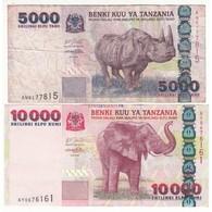 TANZANIE LOT DE 2 BILLETS - Tanzanie
