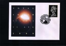 Great Britain 1999 Solar Eclipse Interesting Cover - Astronomia