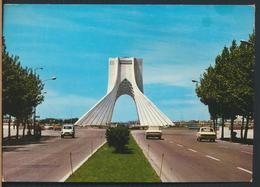 °°° 13072 - IRAN - TEHERAN - MAYDANE , SHAHYAD , ARYAMEH - 1975 With Stamps °°° - Iran