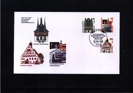 Germany / Deutschland 2000 Rathaus + Bruecke FDC - Brücken