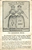 Young & Cooper Postcard, Elisa And Mary Chulkhurst, The Biddenden Maids (conjoined Twins) ETAT - Publicidad