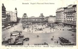 BRUXELLES - Place Rogier Et Gare Du Nord - Spoorwegen, Stations