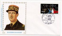 FDC France 1980 - Mort Du Général De Gaulle YT 2114 Oblitération 80 Amiens - FDC