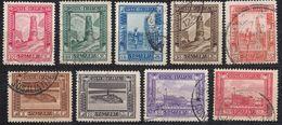 SOMALIA - 1932/1937 - Lotto Formato Da Nove Valori Obliterati: Yvert 162, 164, 166, 167, 168, 170, 171, 172 E 173 - Somalia