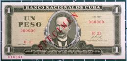 Billete De Un Peso SPECIMEN 1967, UNC. Primera Decada De La Revolución. - Cuba