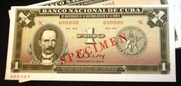 CUBA 1975, Unico Billete Conmemorativo (UNC SPECIMEN), En Los Primeros 40 Años De La Revolución. - Cuba