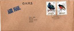 AITUTAKI,    Letter,    Birds     /     Lettre,   Oiseaux       1985 - Vögel