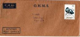 AITUTAKI,    Letter,    Birds     /     Lettre,   Oiseaux - Tauben & Flughühner