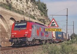 BB 27112 VFLI Et Train De Combiné à Saint-Chamas (13) - - Trains
