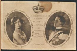 °°° 13079 - IL PRINCIPE UMBERTO E LA PRINCIPESSA MARIA DEL BELGIO - 1930 °°° - Case Reali