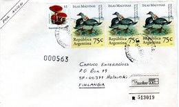 ARGENTINA,   Registered Letter,    Birds     /     ARGENTINE,   Lettre Recommandée,   Oiseaux,     1995 - Oies