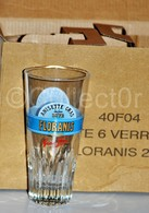 Lot Boite 6 Verres FLORANIS ANISETTE GRAS 2013 NEUF - Glasses