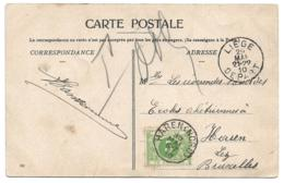 BELGIUM - Postcard Send Unpaid In 1910 From Liege - Taxed 5c At Haren - Taxes