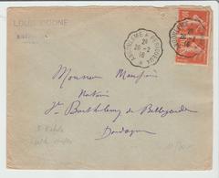 """CHARENTE : ANGOULEME à PERIGUEUX """" Conv Type 3 / LSC 3° Echelon De 1916 Pour  St Barthélémy TB - Marcophilie (Lettres)"""