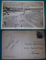 Cartolina Senigallia (Ancona) - Un Tratto Di Spiaggia All'ora Del Bagno. Viaggiata 1950 - Ancona