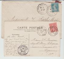 """CHARENTE : Conv ANGOULEME à POITIERS & à SAINTES """" Type 2 & 3 / 2 Docs De 1904 & 1925 TB - Poste Ferroviaire"""