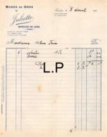 30-0264    1928 MODES EN GROS JULIETTE A TARBES - M. MILOU A TRIE - Frankrijk