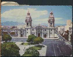 °°° 13083 - PERU - LIMA - CATEDRAL - With Stamps °°° - Perù