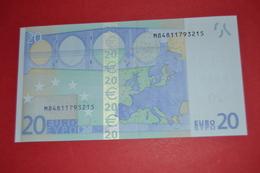 20 EURO U019F3  PORTUGAL U019 F3 - TRICHET - M84811793215 - UNC - NEUF - FDS - EURO