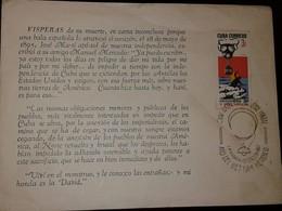 L) 1967 CUBA, GENOCIDE IN VIETNAM, 3C, GAS MASK AND VICTIMS, SCOTT A337, JOSE MARTI, FDB - Kuba
