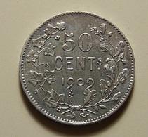 Belgium 50 Centimes 1909 Silver - 1865-1909: Leopold II