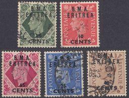 AMMINISTRAZIONE MILITARE BRITANNICA In ETIOPIA - 1948/1949 - Lotto Di 5 Valori Usati: Yvert 2, 4, 6, 7A E 8. - Africa Del Sud-Ovest (1923-1990)