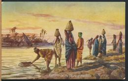 °°° 13097 - EGYPT - ON THE SHORE OF THE NILE - 1912 With Stamps - TUCK'S CARD °°° - Egitto