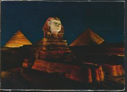 °°° 13098 - EGYPT - GIZA SPHINX AND PYRAMIDS - 1975 With Stamps °°° - Sfinge