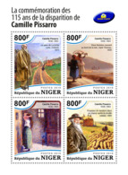 Niger 2018 Camille Pissarro  Paintings      S201812 - Niger (1960-...)