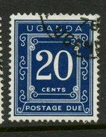 Uganda 1973 20c Postage Due Issue #J3b - Uganda (1962-...)