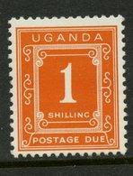 Uganda 1967 1sh Postage Due Issue #J6  MH - Uganda (1962-...)