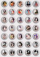 35 X Ann Rutherford Film Fan ART BADGE BUTTON PIN SET 1 (1inch/25mm Diameter) - Films