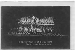 Eidg. Turnfest In St. Gallen 1922 Historischer Reigen - SG St. Gallen