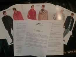 Dossier De Presse - Collection P. BALMAIN Paris - Hommes - 1997 - Haute Couture - Habits & Linge D'époque