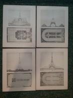 La Construction Moderne 1885 - 4 Projets De TOUR Eiffel Dutert Perthes Et Raulin - Architecture