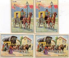 Chromo - Nouvelles Galeries La Bourboule - Garel - Lot De 4- Coupé, Diligence 1845 - Autres