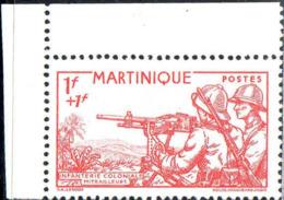 Martinique Poste N** Yv:186/188 Défense De L'Empire Coin De Feuille - Ungebraucht