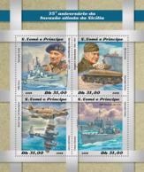 Sao Tome  2018  Allied Invasion Of Sicily World War II  S201812 - Sao Tome And Principe