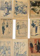 Lot De 9 Images - Pilules Laboureur, Panthéon, Semelles Unique, Pharmacie De Paris, Pastilles Miel, Chicorée - Vieux Papiers