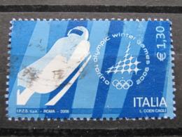 *ITALIA* USATI 2006 - GIOCHI OLIMPICI SLITTINO TORINO 2006 - SASSONE 2878 - LUSSO/FIOR DI STAMPA - 6. 1946-.. Repubblica