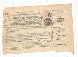 Timbre Fiscal , 25 C , Puteaux ,1935 , Service De La Radiodiffusion - Steuermarken
